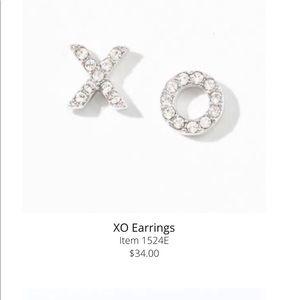 Xo kiss and hug earrings Swarovski Touchstone BNIB